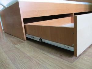 Телескопические крепления шухлядей для кровати