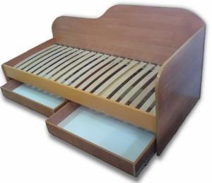 Одинарная кровать с выдвижными шухлядами под заказ г. Белая Церковь